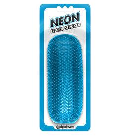 PIPEDREAM NEON EZ GRIP STROKER BLUE