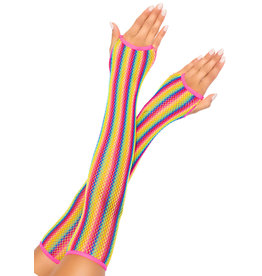 LEG AVENUE RAINBOW NET ARM WARMERS