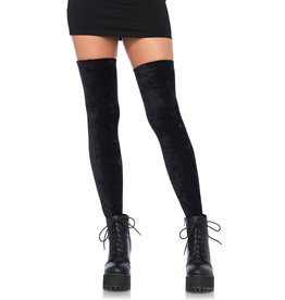 LEG AVENUE CRUSHED VELVET THIGH HIGH O/S