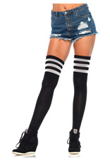 LEG AVENUE ATHLETIC THIGH HIGHS W/ 3 STRIPES