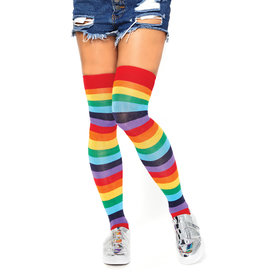 LEG AVENUE ACRYLIC RAINBOW THIGH HIGHS O/S