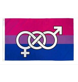 BISEXUAL SYMBOL 3'X5' POLYESTER FLAG
