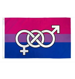 FLAG BISEXUAL SYMBOL 3'X5' POLYESTER