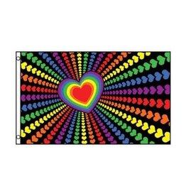 FLAG RAINBOW LOVE 3'X5' POLYESTER