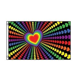 RAINBOW LOVE 3'X5' POLYESTER FLAG