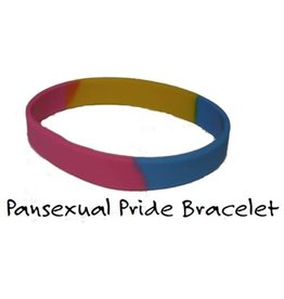 PANSEXUAL PRIDE SILICONE BRACELET