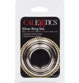 CalExotics SILVER COCK RING 3 PIECE SET