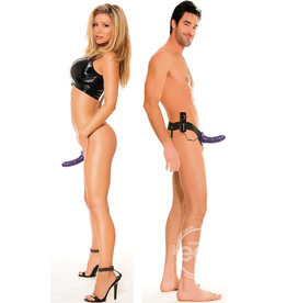PIPEDREAM PRODUCTS FF VIBE HOLLOW STRAP ON,PURPLE