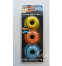 Rascal Toys RASCAL D-RING GLOW 3PK