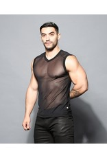 ANDREW CHRISTIAN ANDREW CHRISTIAN SEXY SHEER SLEEVELESS V-NECK