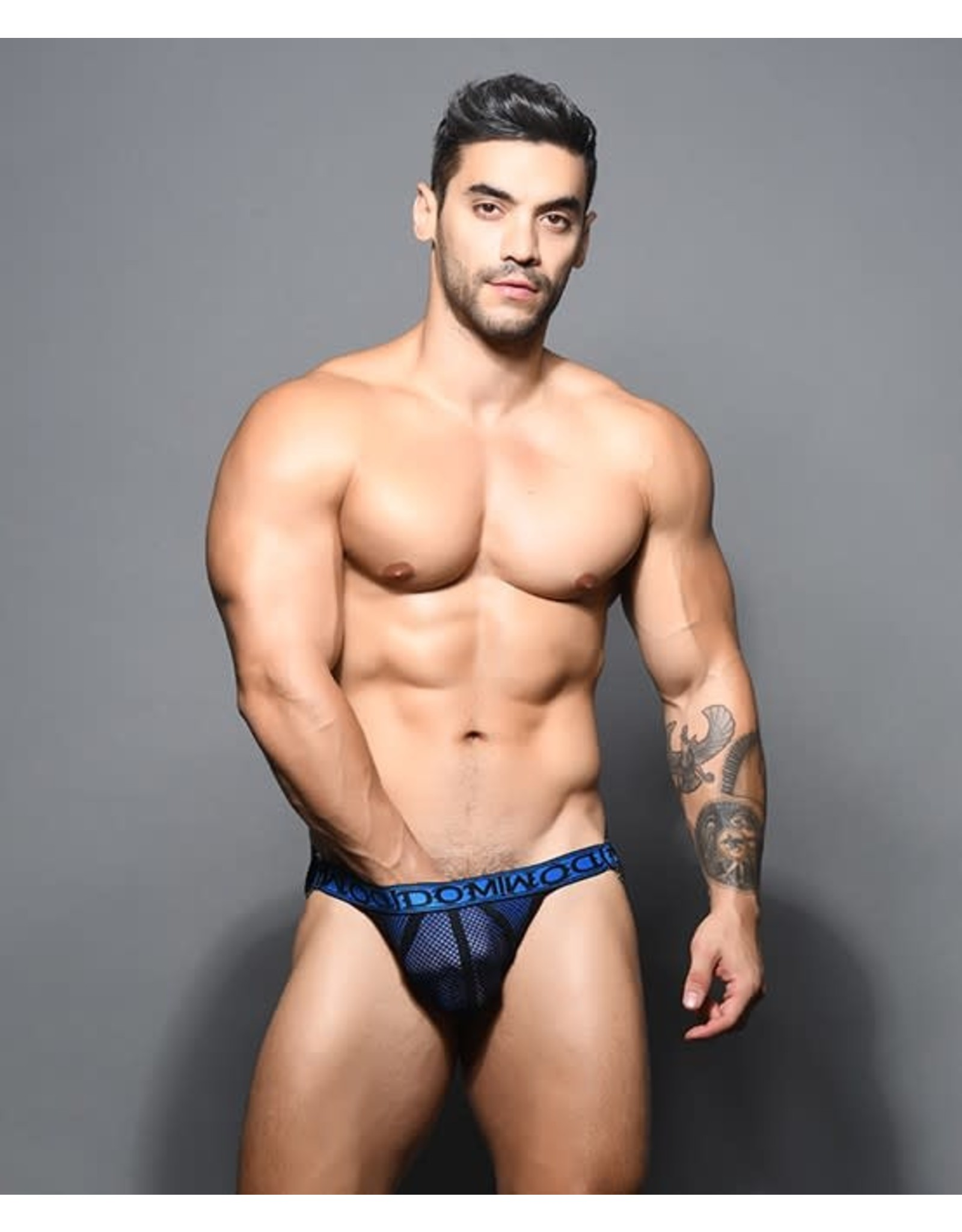 ANDREW CHRISTIAN ANDREW CHRISTIAN DOM DOUBLE-MESH RING JOCK SMALL