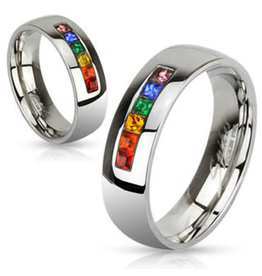 RAINBOW RAINBOW GEM RING