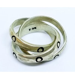 MB JEWELRY INTERLOCKING 3-BAND RING