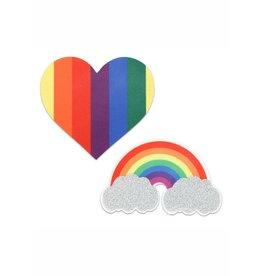 XGEN PEEKABOO PRIDE GLITTER RAINBOWS & HEARTS
