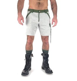 NASTY PIG FUSION QUAD GREY SHORTS - LARGE