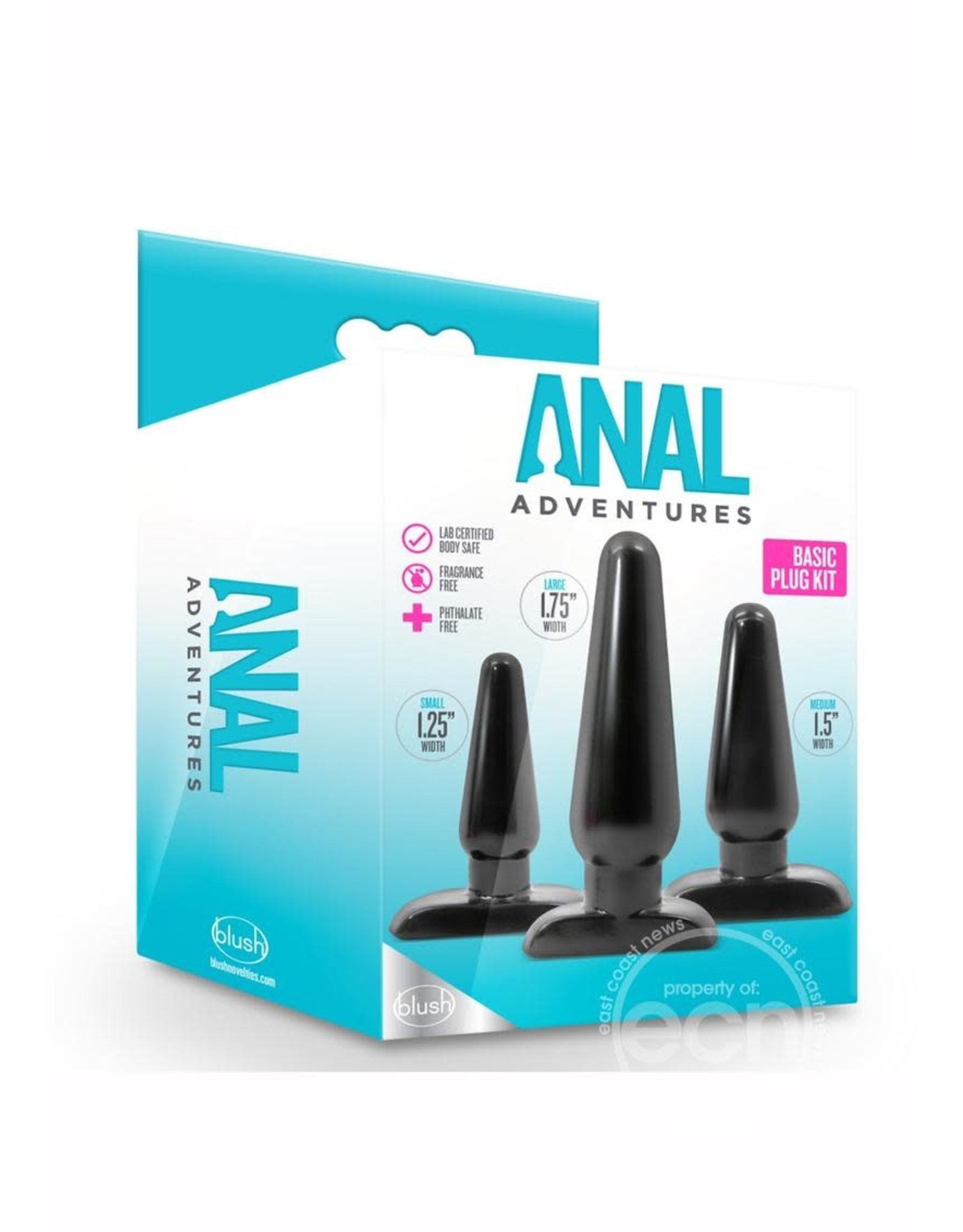 BLUSH NOVELTIES ANAL ADVENTUES BASIC PLUG KIT