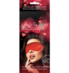 CREATIVE CONCEPTS BLINDFOLD, YOU & ME SILKY RED