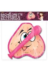 Hott Products BATCHERLORETTE PECKER BAT & BALLS PINATA COMBO