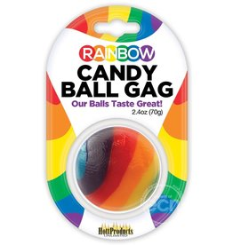 Hott Products Rainbow Candy Ball Gag Assorted Flavor Assorted Color