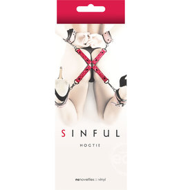 NS Novelties SINFUL HOGTIE RESTRAINT RED