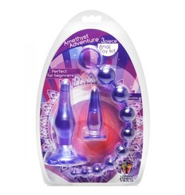 XR Brands Amethyst Adventure Anal Toy Kit Purple