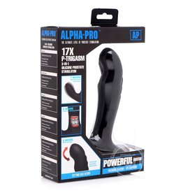 XR Brands ALPHA PRO P TRIGASM 3 IN 1 PROSTATE MASSAGER