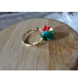 RAINBOW STONE WIRE RING