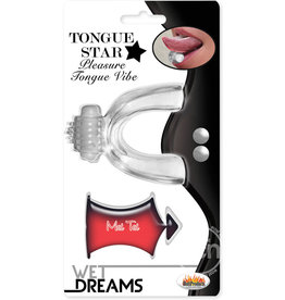 Hott Products TONGUE, TONGUE STAR VIBE W/ LUBE,CLEA