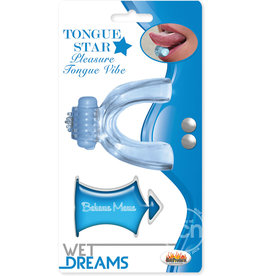 Hott Products TONGUE, TONGUE STAR VIBE W/ LUBE,BLUE