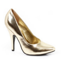 "ELLIE SHOES 5"" HEEL PUMPS, 11, Gold"