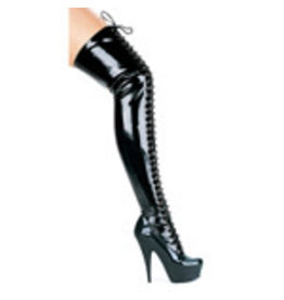 "ELLIE SHOES 6"" THIGH HIGH BOOTS SIZE 12"