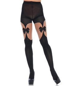 LEG AVENUE OPAQUE ILLUSION GARTERBELT TIGHTS