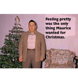 10% PRODUCTIONS X MAS CARD FAT MALE BY X MAS TREE,FEELING PRETTY WAS THE ONLY THING...