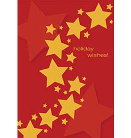 10% PRODUCTIONS X MAS CARD-TRAIL OF GOLD STARS,HOLIDAY WISHES