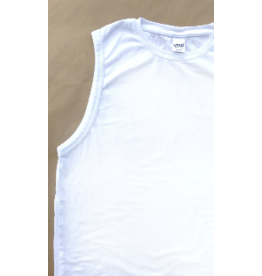 T-AJ,SLEEVLESS, BAREFRONT,WHITE/SM