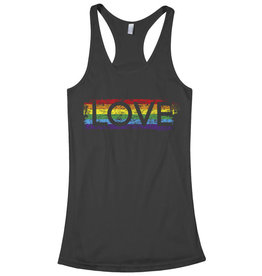 RACERBACK LOVE RAINBOW STRIPE