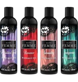 WET LUBE WET ELITE FEMME MASSAGE OIL 4OZ