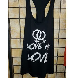 FEMALE LOVE IS LOVE RAZOR BACK TANK LARGE