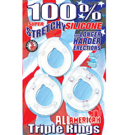 NASSTOYS ALL AMERICAN TRIPLE RINGS CLEAR