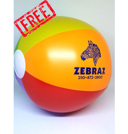 ZEBRAZ ZEBRAZ BEACH BALL