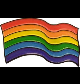 YUNGER RAINBOW WAVY FLAG PIN