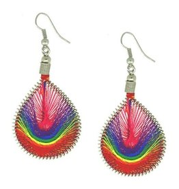 RAINBOW RAINBOW THREADED EARRINGS
