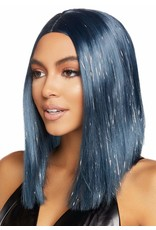 "LEG AVENUE 15"" LONG BOB WIG MIDNIGHT BLUE"