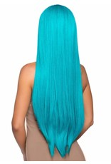 "LEG AVENUE 33"" LONG STRAIGHT WIG TURQUOISE"