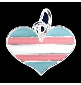 RAINBOW TRANSGENDER HEART CHARM