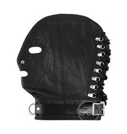 ROUGE GARMENTS ROUGE MASK W/ D RING & LOCK STRAP BLACK
