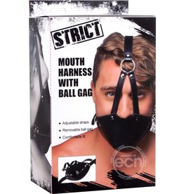 STRICT STRICT MOUTH HARNESS W/ BALL GAG