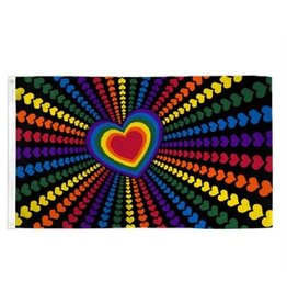 RAINBOW LOVE 2'X3' POLYESTER FLAG