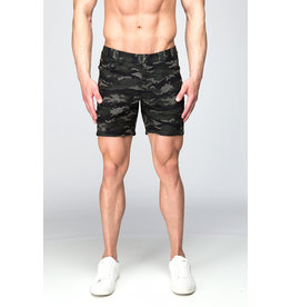 ST33LE ST33LE PRINTED STRETCH KNIT SHORT CAMO GREEN