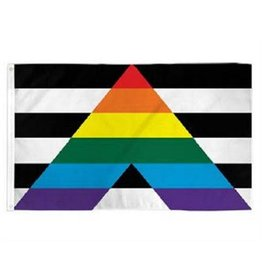 RAINBOW GAY STRAIGHT ALLIANCE FLAG  3'X5' POLYESTER